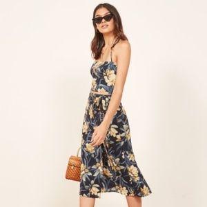 Reformation Umbria Dress Halter Wrap Dress Sz 2